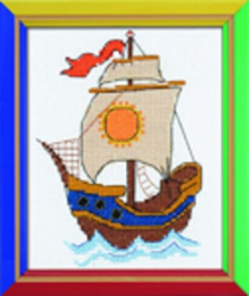 Riolis Cross Stitch Kit.ON THE WAVES.